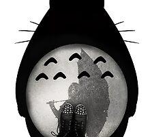 Totoro - Where I Stand #12 (Black Silhouette) by SClarkeArt