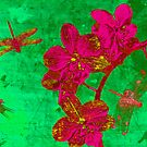 Dragonfly and Flowers. by Vitta