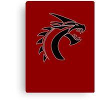 Simple Dragon -Black- Canvas Print