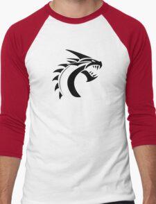 Simple Dragon -Black- Men's Baseball ¾ T-Shirt