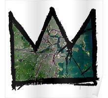 """Basquiat """"King of Boston"""" Poster"""