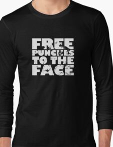 Free punches to the face Long Sleeve T-Shirt