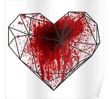 Geo Heart Spatter Poster