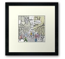 Melbourne city lane-way Framed Print