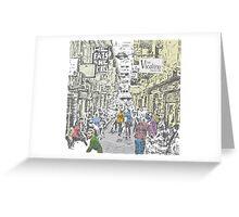 Melbourne city lane-way Greeting Card