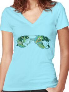 Nature Vision™ Women's Fitted V-Neck T-Shirt