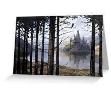Hogwarts Through the Trees Greeting Card