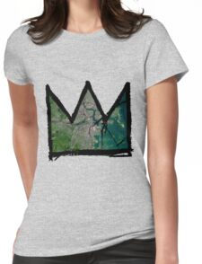 "Basquiat ""King of Boston"" Womens Fitted T-Shirt"