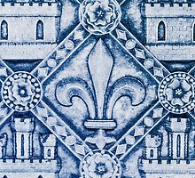 Fleur de Lis in Blue by Patricia L. Walker