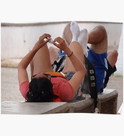 Taking Exercise - Haciendo Ejercicio Poster