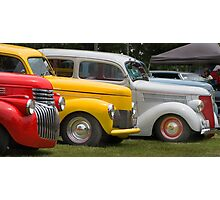Hot Rod line up  Photographic Print