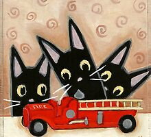 Fire Truck by Shelly  Mundel
