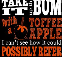 Toffee Apples. Fivepence. by Lonely Two-Legged Creatures