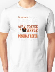 Toffee Apples. Fivepence. T-Shirt