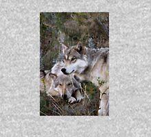 Wolves Digital Oil Painting ~ Family Ties II Unisex T-Shirt