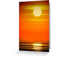 Solway Sunset at Southerness Greeting Card