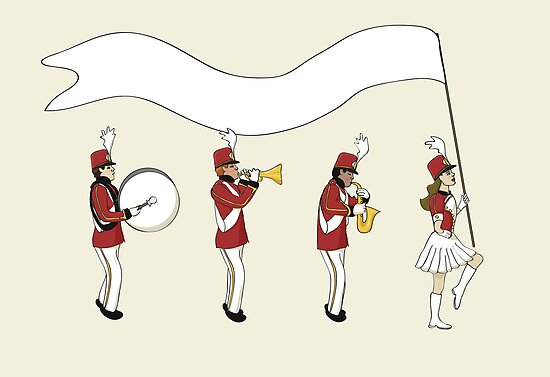 Marching Band with Blank Banner by mogencreative