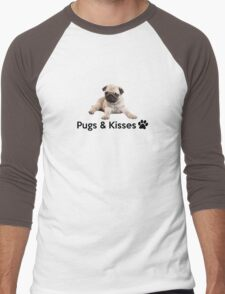 Pugs and Kisses! Men's Baseball ¾ T-Shirt