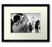 Father Son  Framed Print