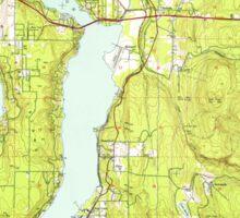 USGS Topo Map Washington State WA Mercer Island 242293 1950 24000 Sticker