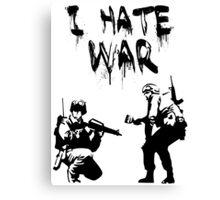 I Hate War Banksy Canvas Print
