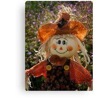 Smiley Scarecrow Canvas Print