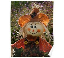 Smiley Scarecrow Poster