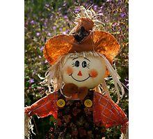 Smiley Scarecrow Photographic Print
