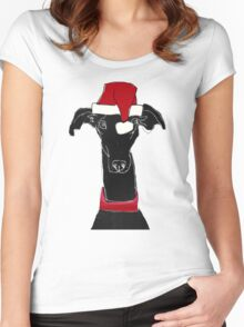 greyhound xmas Women's Fitted Scoop T-Shirt