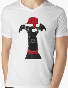 greyhound xmas Mens V-Neck T-Shirt