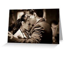 Passionate tango Greeting Card