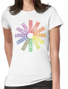 Hex color wheel Womens Fitted T-Shirt