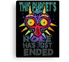 This Puppet's Role Has Just Ended Canvas Print