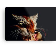 Creepy Cat Metal Print