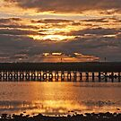Amble Pier at Sunset by Elaine123