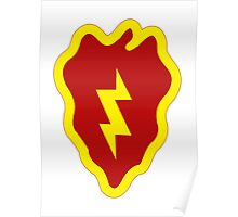 25th Infantry Division Insignia Poster