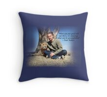 Paul Walker Inspiring Quotes Throw Pillow