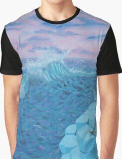 Giants Causeway seascape Graphic T-Shirt