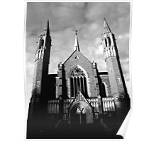 Sacred Heart Cathedral, Bendigo. B&W Poster