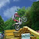 Over the top, trials rider. by Roy  Massicks