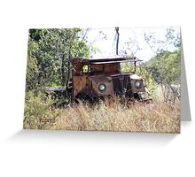 A sad ending for a classic truck Greeting Card