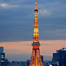 Tokyo Tower at dusk - Japan by Norman Repacholi
