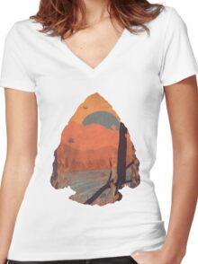 Autumn in the Gorge... Women's Fitted V-Neck T-Shirt