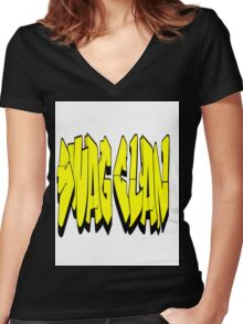 Swag Clan T_Shirt Women's Fitted V-Neck T-Shirt