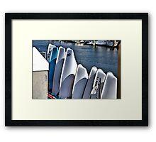 A Pod of Sailboats Framed Print