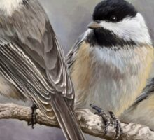Three Little Chickadees Sticker