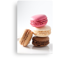 A stack of macaroons Canvas Print