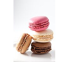 A stack of macaroons Photographic Print