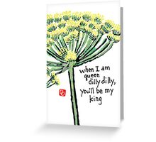 Dill (the Herb Series) Greeting Card