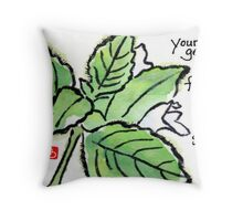 Lemon Balm (the Herb Series) Throw Pillow